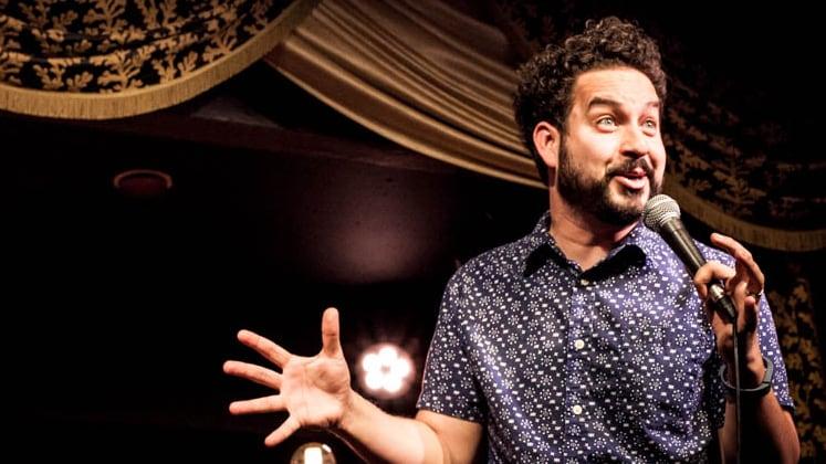 Large image of stand-Up comic Ahmed Bharoocha