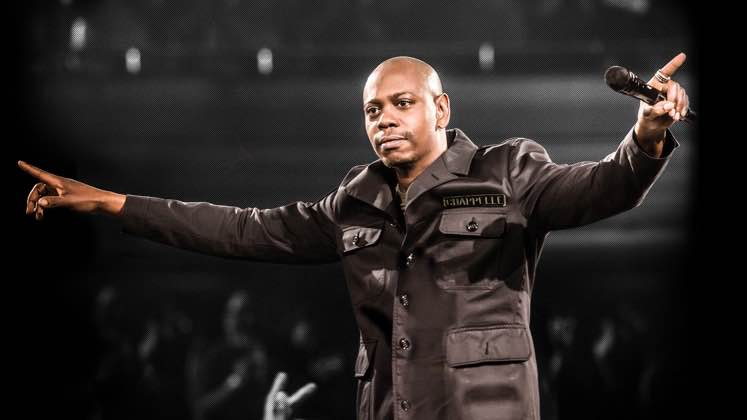 Large image of stand-Up comic Dave Chappelle