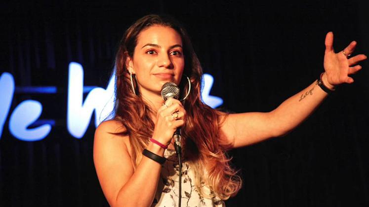Large image of stand-Up comic Liz Miele