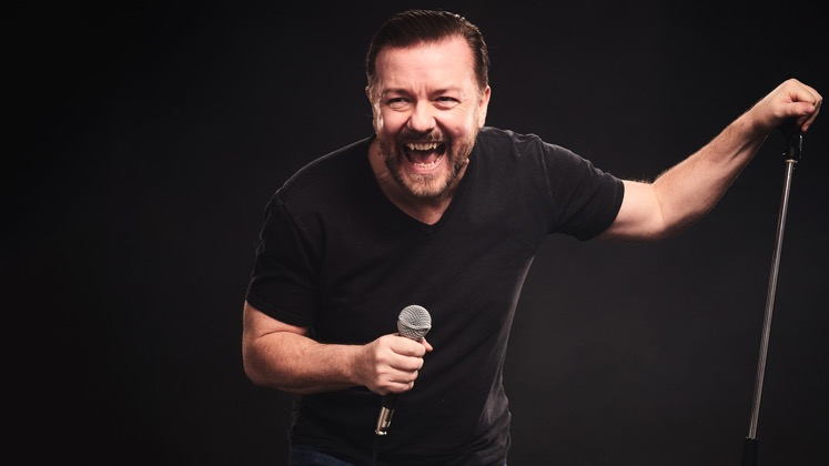 Large image of stand-Up comic Ricky Gervais